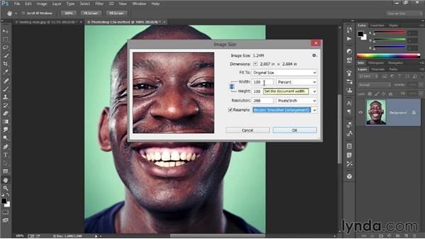 292 Enlarging a low-res photograph in Photoshop: Deke's Techniques