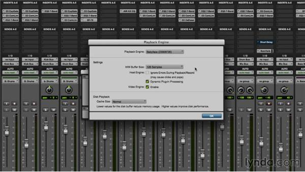 configuring  pro tools  playback engine