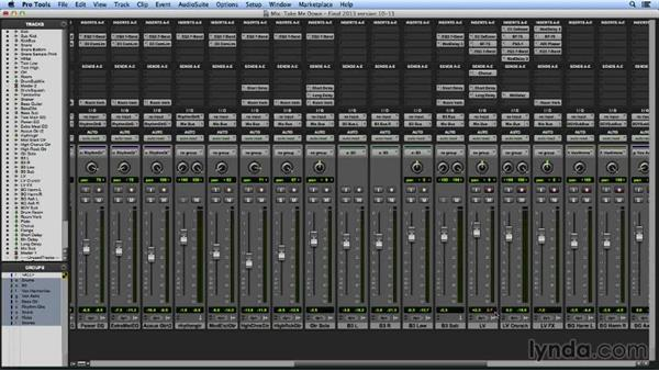Using new metering options in the mixer: Pro Tools Mixing and Mastering