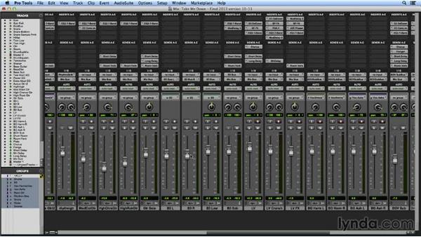 Mixing shortcuts in Pro Tools 11: Pro Tools Mixing and Mastering
