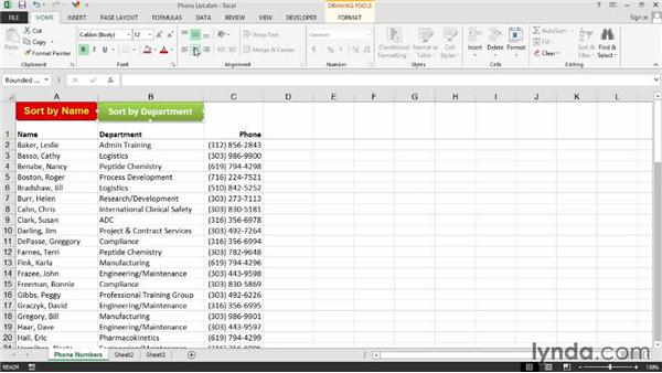 Running a macro from an object or clip art: Excel 2013: Macros in Depth