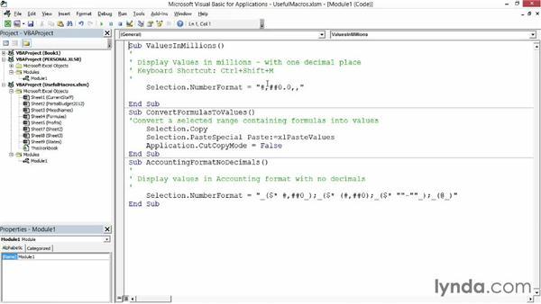 Creating the Personal Macro Workbook: Excel 2013: Macros in Depth
