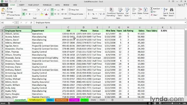 Closing and updating the Personal Macro Workbook: Excel 2013: Macros in Depth