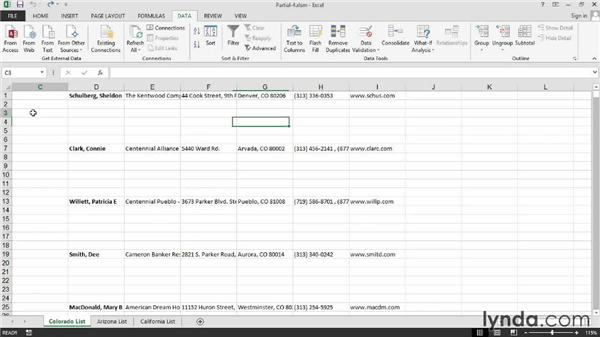 Pulling the data together: Excel 2013: Macros in Depth