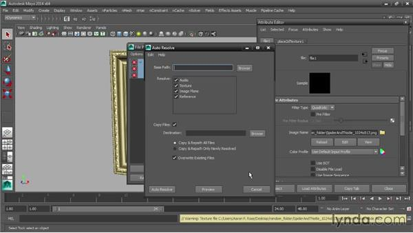 Resolving dependency issues with the File Path Editor: Maya Tips and Tricks
