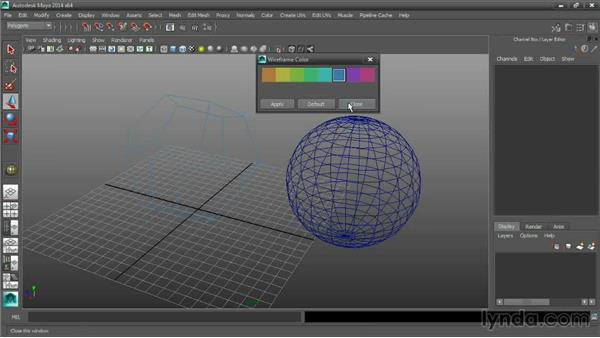 Setting wireframe line width and color: Maya Tips and Tricks