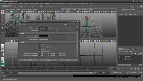 Defining grid options: Maya Tips and Tricks