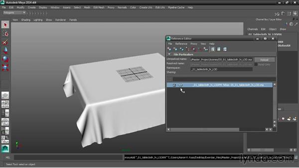 Assigning a reference proxy: Maya Tips and Tricks
