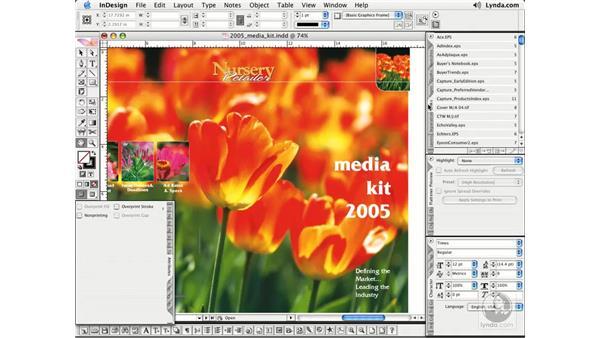 Stashing Palettes: InDesign CS2 Essential Training
