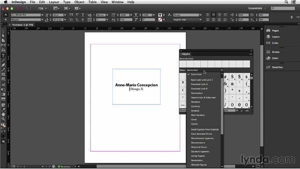 Creating the template: InDesign Insider Training: Data Merge and Database Publishing