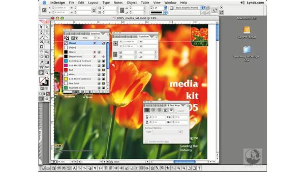 Floating Palettes: InDesign CS2 Essential Training