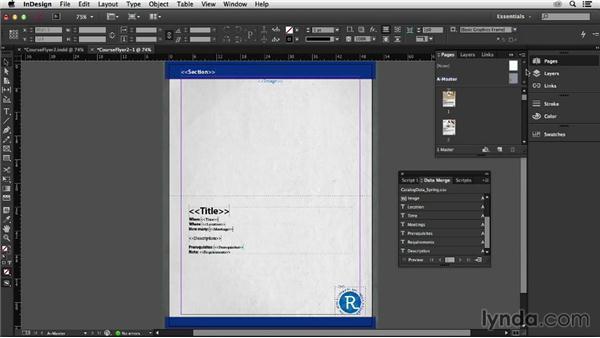 Using master pages with Data Merge: InDesign Insider Training: Data Merge and Database Publishing
