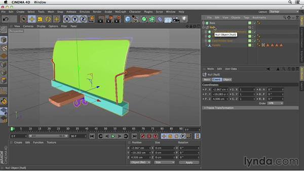 Grouping objects into components: Primitive and Spline Modeling in CINEMA 4D