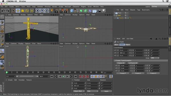 Adjusting the axes of objects for easier assembly: Primitive and Spline Modeling in CINEMA 4D