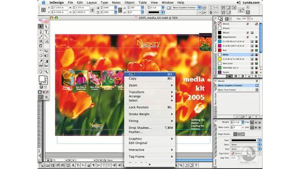Contextual Menus: InDesign CS2 Essential Training