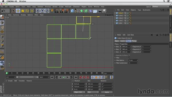 Quantizing movement: Primitive and Spline Modeling in CINEMA 4D