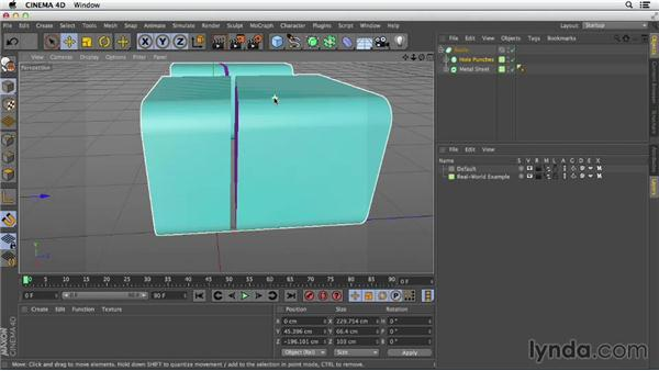 Additive and subtractive modeling with Booleans: Primitive and Spline Modeling in CINEMA 4D