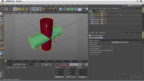 Creating complex shapes with nested Booleans: Primitive and Spline Modeling in CINEMA 4D