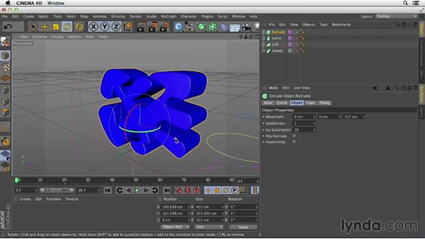 An overview of Sweep, Loft, and Lathe: Primitive and Spline Modeling in CINEMA 4D