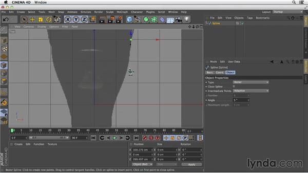 Drawing bezier splines: Primitive and Spline Modeling in CINEMA 4D