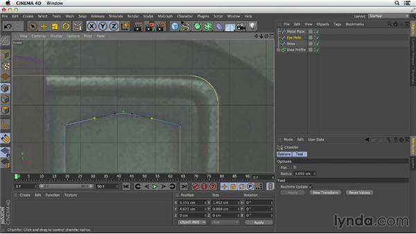 Rounding corners with Chamfer: Primitive and Spline Modeling in CINEMA 4D