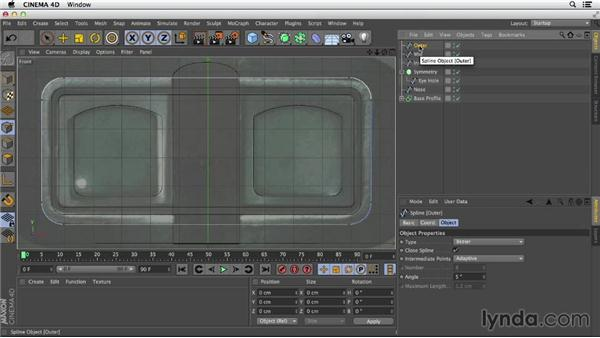 Outlining curves: Primitive and Spline Modeling in CINEMA 4D