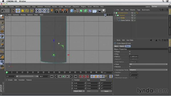 Creating extrusions with holes using Connect: Primitive and Spline Modeling in CINEMA 4D