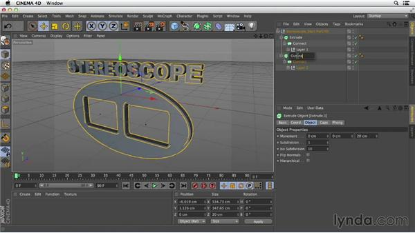 Importing and extruding AI files: Primitive and Spline Modeling in CINEMA 4D