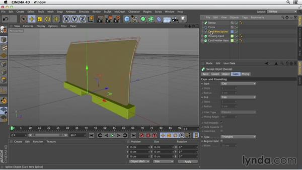 Creating a simple sweep: Primitive and Spline Modeling in CINEMA 4D