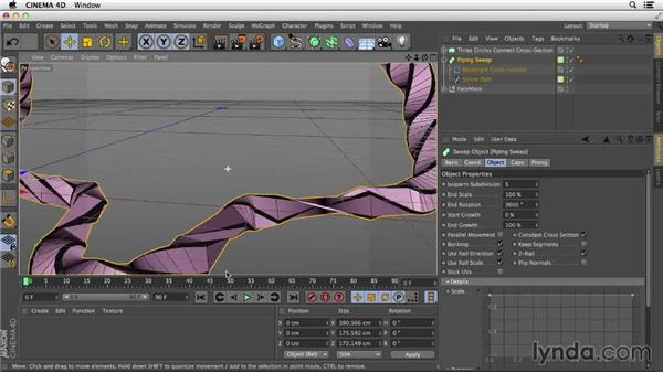 Create a complex sweep: Primitive and Spline Modeling in CINEMA 4D