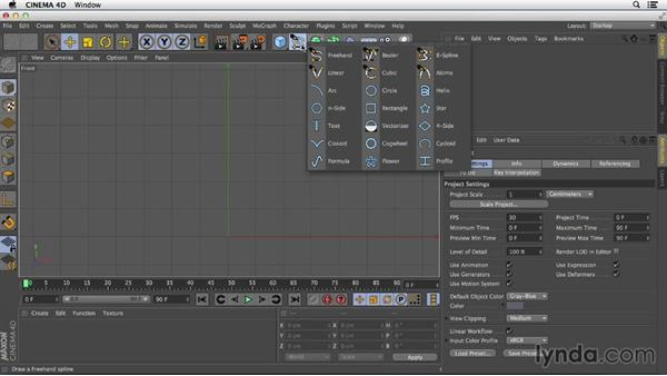 Creating a simple lathe: Primitive and Spline Modeling in CINEMA 4D