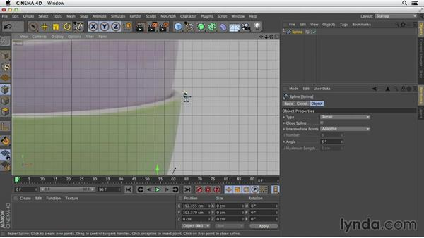 Creating a complex lathe: Primitive and Spline Modeling in CINEMA 4D