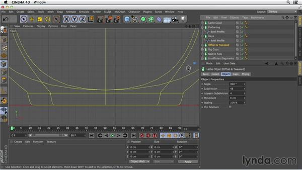 Solving common issues with lathes: Primitive and Spline Modeling in CINEMA 4D