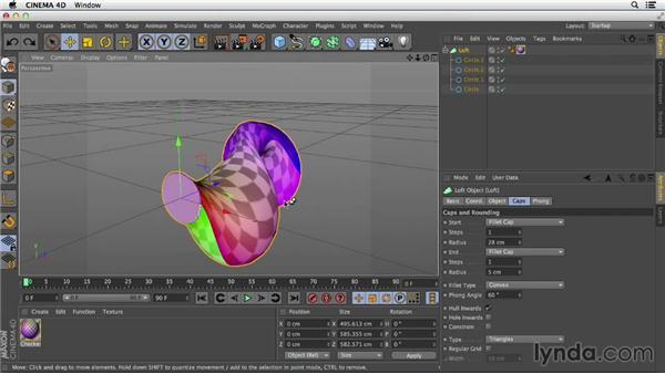 Creating a simple loft: Primitive and Spline Modeling in CINEMA 4D