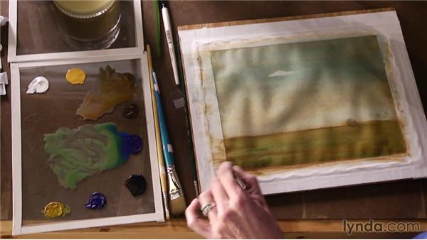 Incorporating a neutralized green: Artist at Work: Tertiary Colors