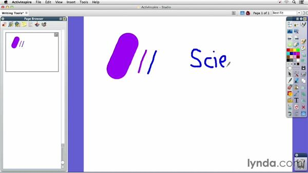Writing tools: Up and Running with Promethean ActivInspire