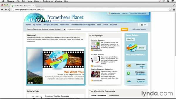 Utilizing prometheanplanet.com: Up and Running with Promethean ActivInspire