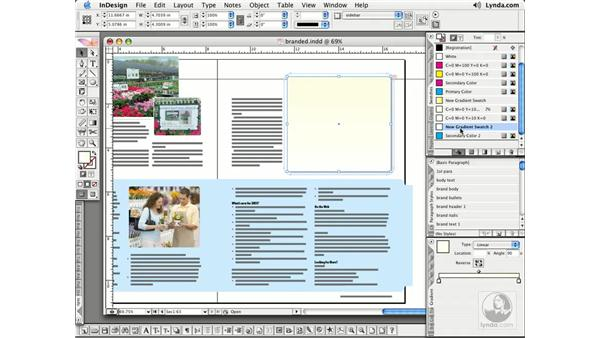 Gradient Tool: InDesign CS2 Essential Training