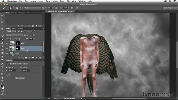 Adding the wings: The Art of Photoshop Compositing
