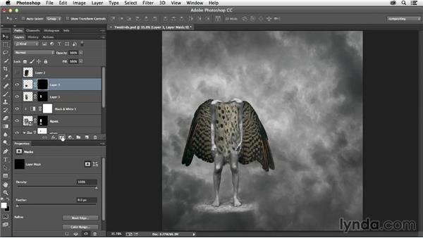 Including additional feathers: The Art of Photoshop Compositing