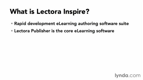 What is Lectora Inspire?: Up and Running with Lectora Inspire