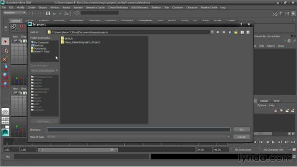 Using the exercise files: Cinematography in Maya