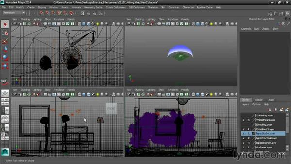 Hiding the ViewCube: Cinematography in Maya