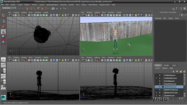 The importance of renderable cameras: Cinematography in Maya