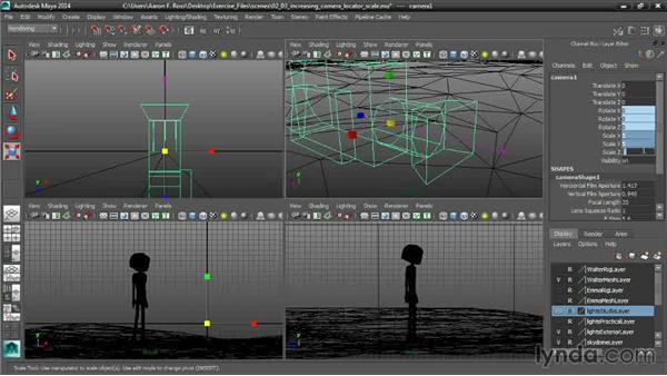 Increasing Locator Scale: Cinematography in Maya