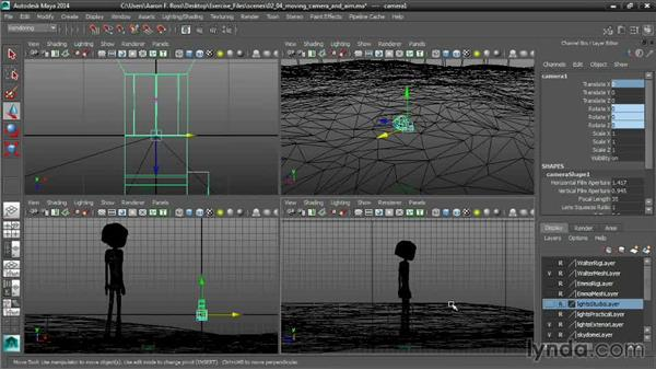 Moving the Camera and Aim: Cinematography in Maya