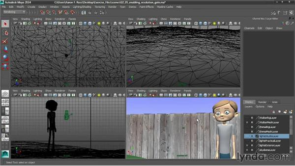 Enabling the Resolution Gate: Cinematography in Maya