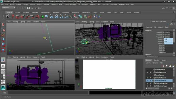 Using a manipulator to set clipping planes: Cinematography in Maya