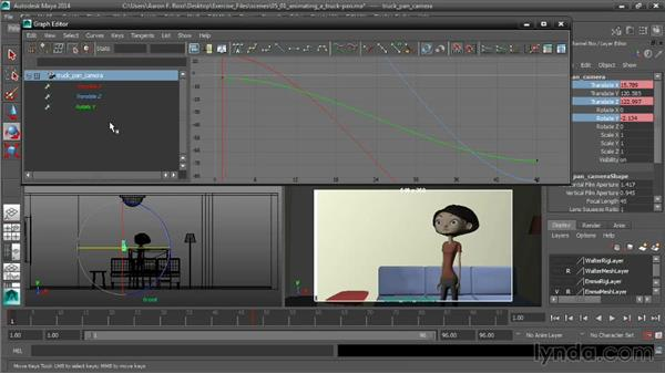 Animating a truck-pan move: Cinematography in Maya