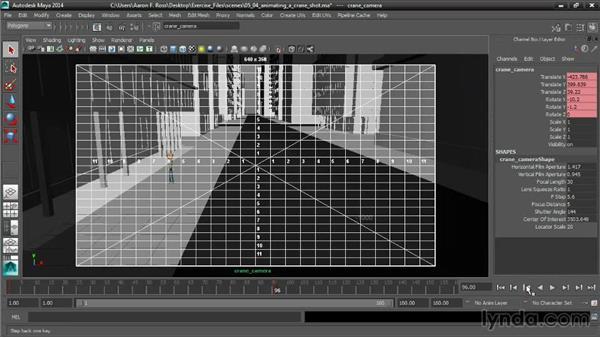 Animating a crane shot: Cinematography in Maya